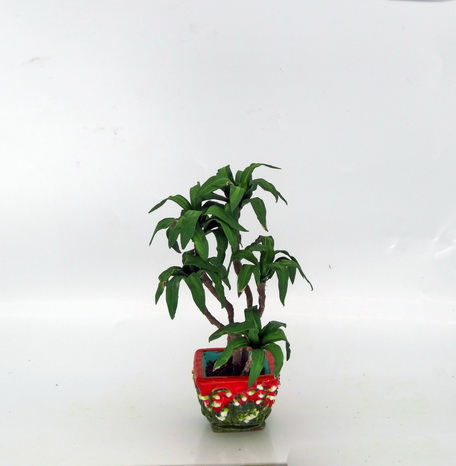 12th scale miniature Dracaena in a George Jones inspired pot